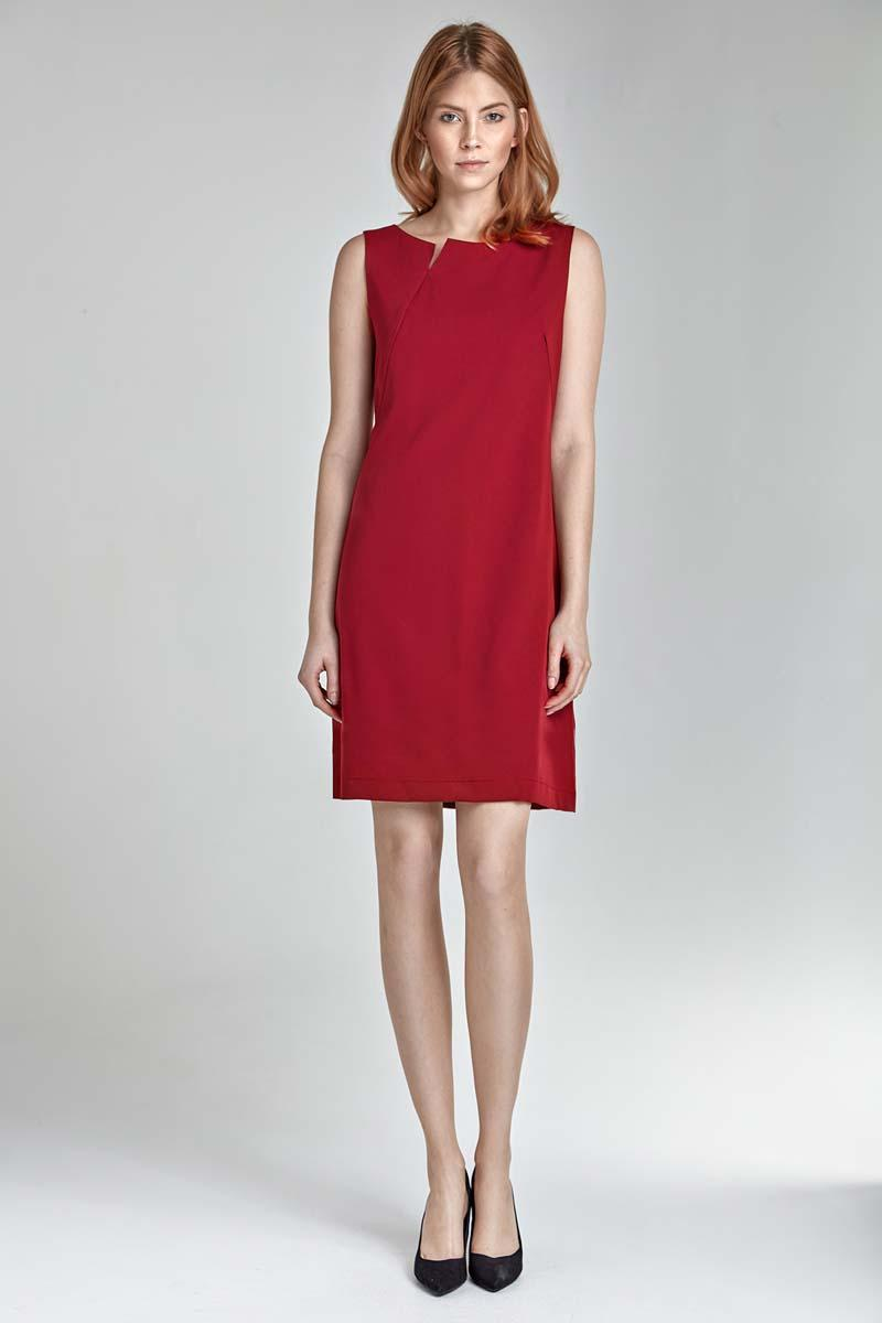 Red Simple Sleeveless Dress