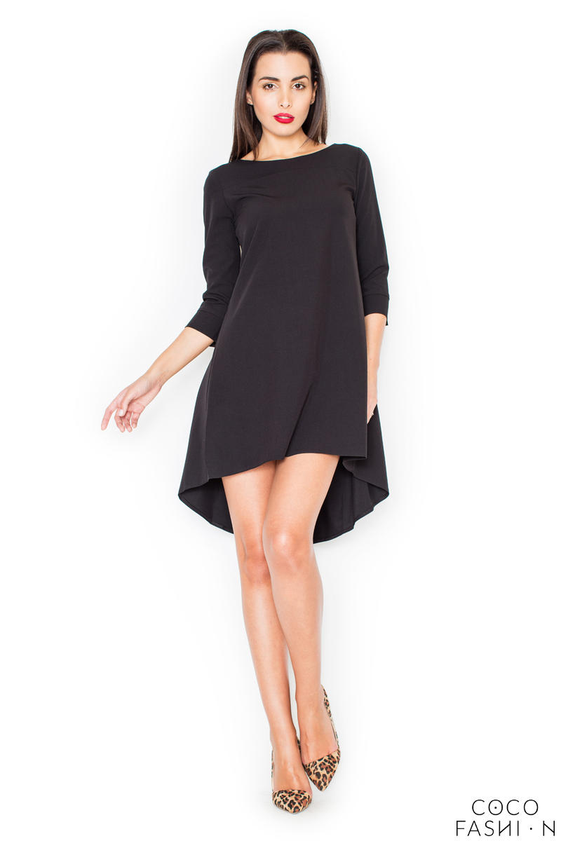 black-elegant-irregular-hem-salsa-dress