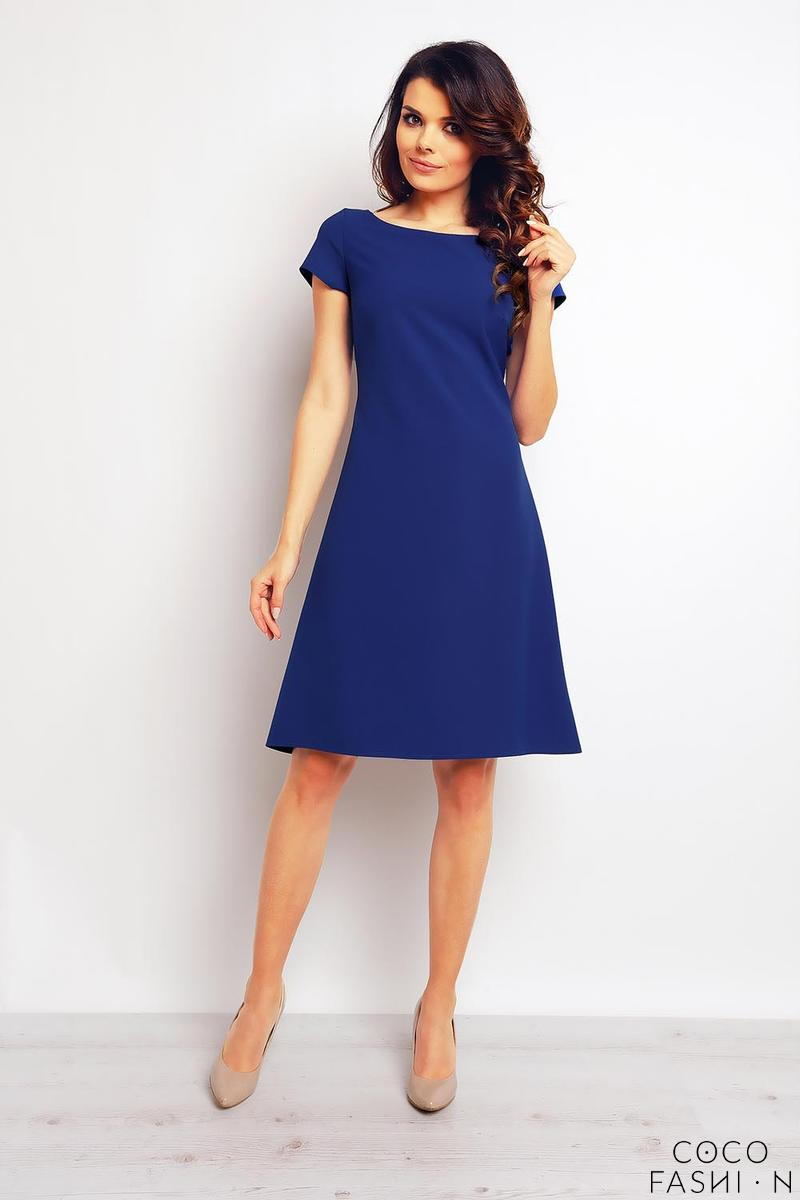blue-flared-designe-knee-length-dress