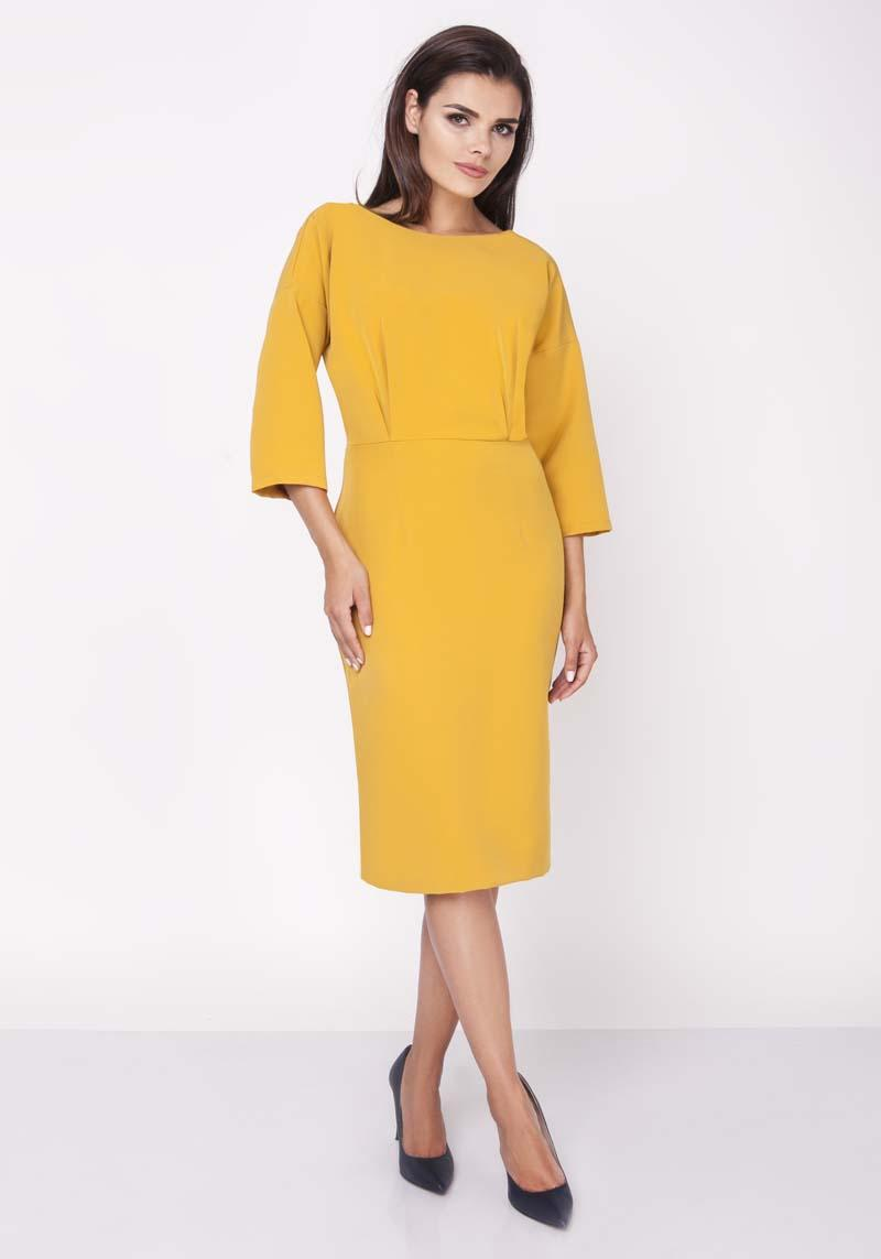 Honey Midi Pencil Dress 1/2 Sleeves