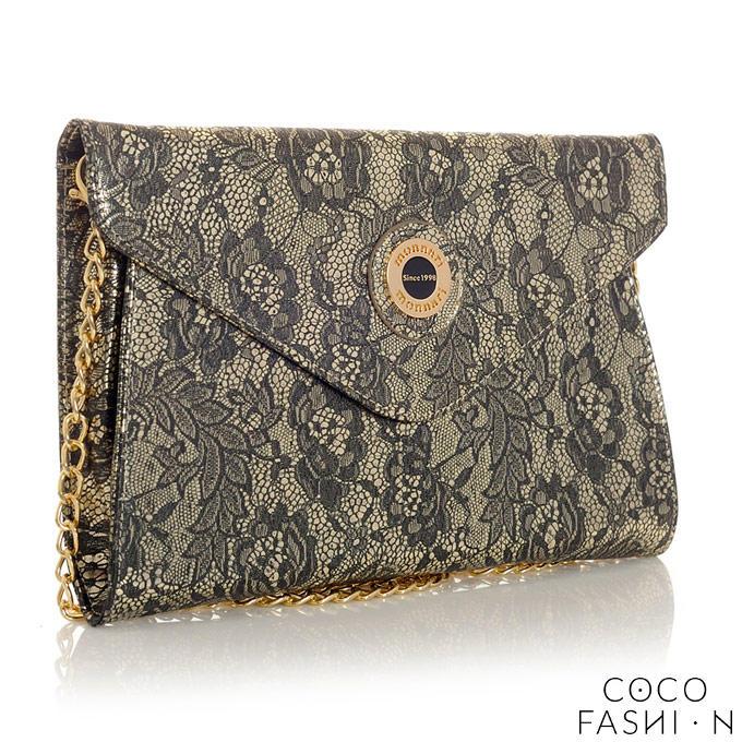 Lace Elegant Clutch Bag with Chain от cocofashion
