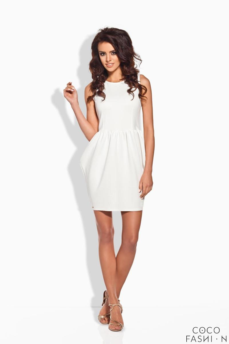 Ecru Stylish Mini Coctail Dress