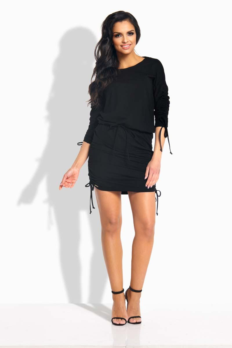 black-drawstring-sport-style-dress