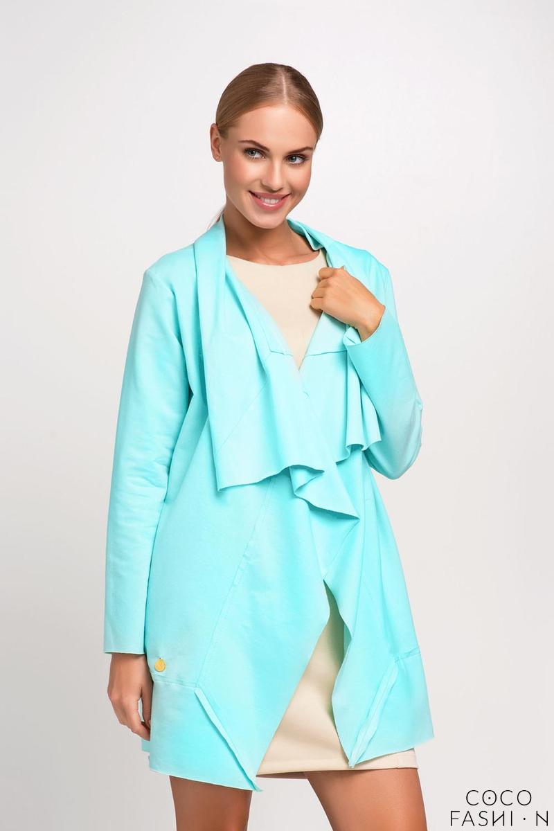 Mint Loose Lapels Ladies Cardigan