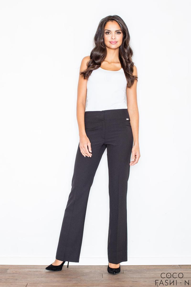 Black Elegant High Waist Office Style Pants