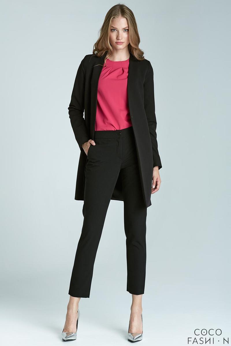 black-elegant-classic-business-style-slim-pants