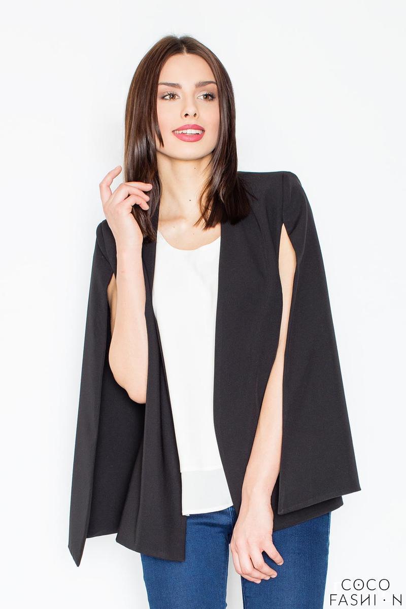 black-stylish-blazer-poncho