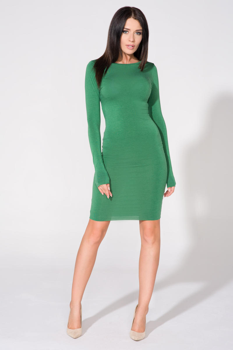 green-bodycon-open-back-dress
