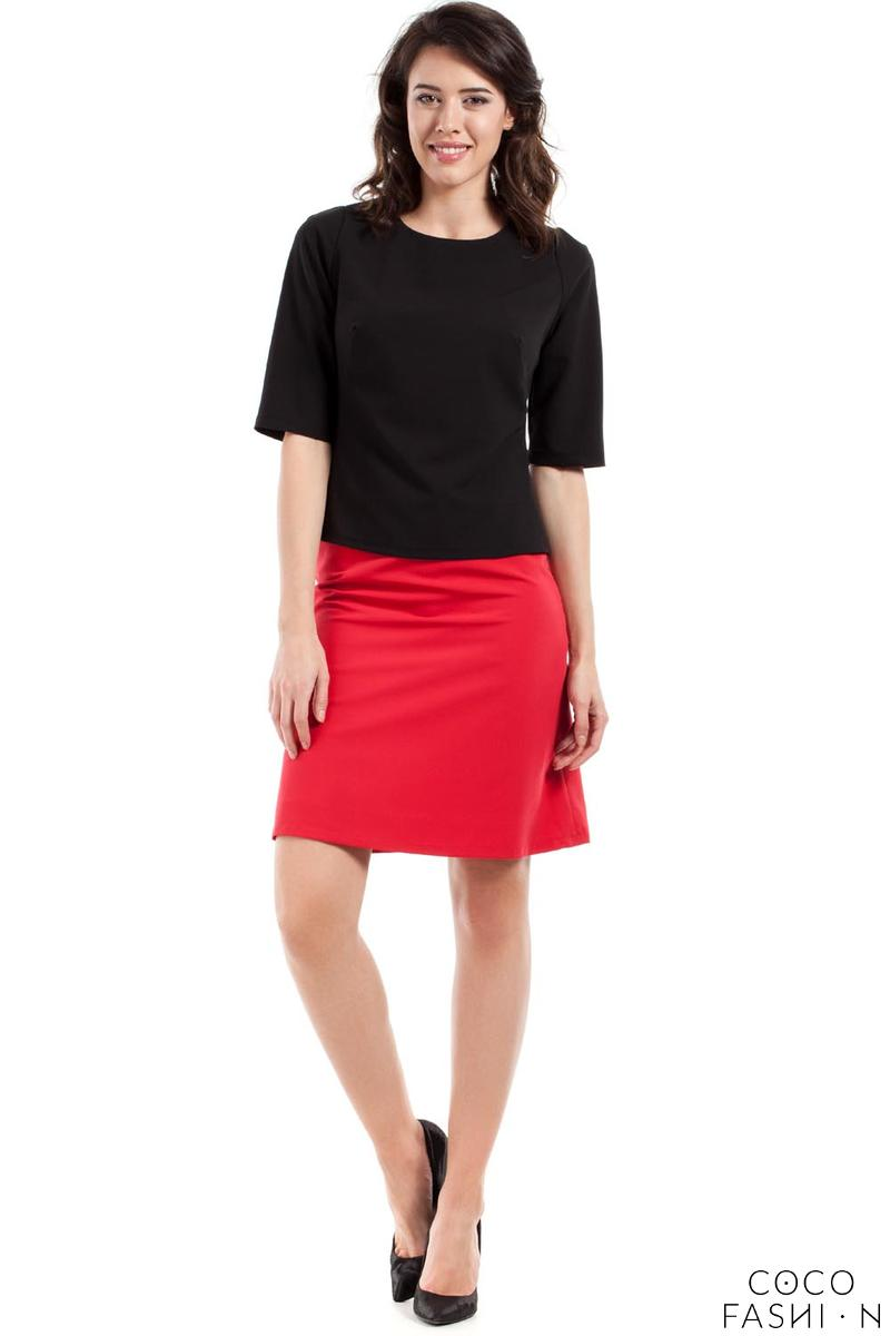 Red Flared Classic Mini Skirt