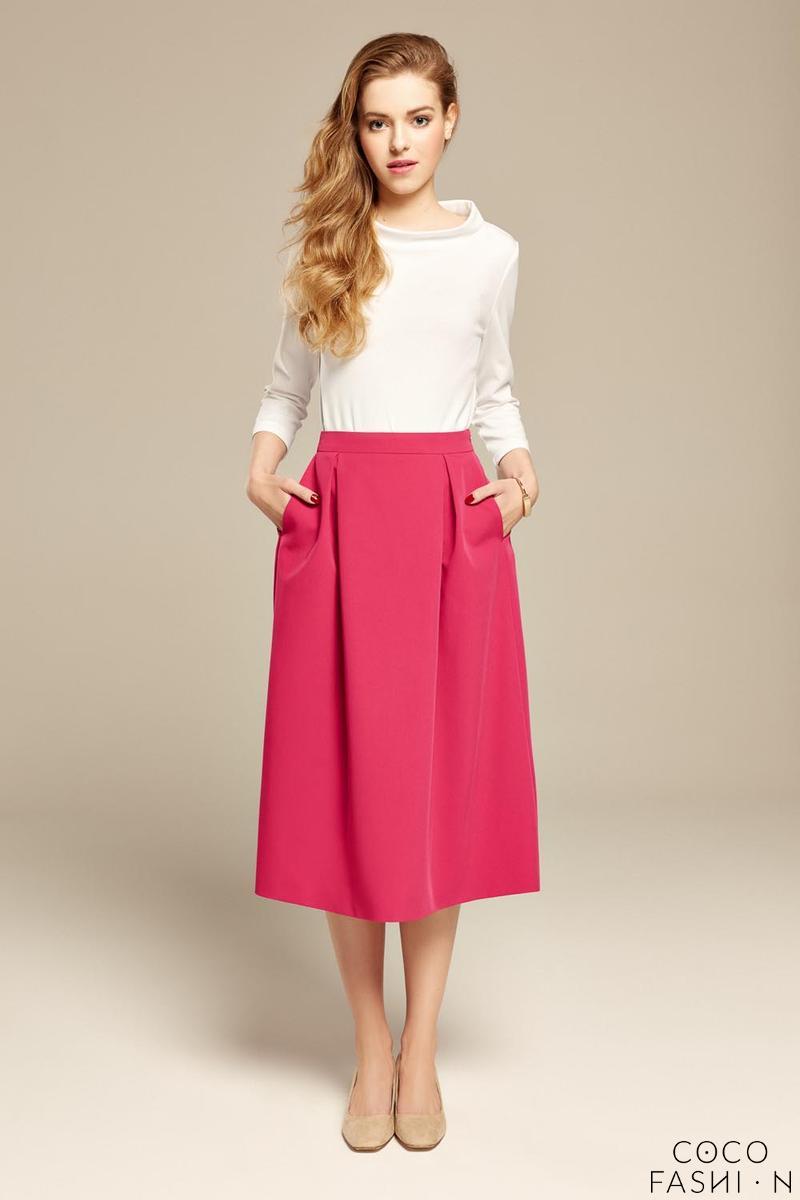 Flared Elegant Midi Skirt