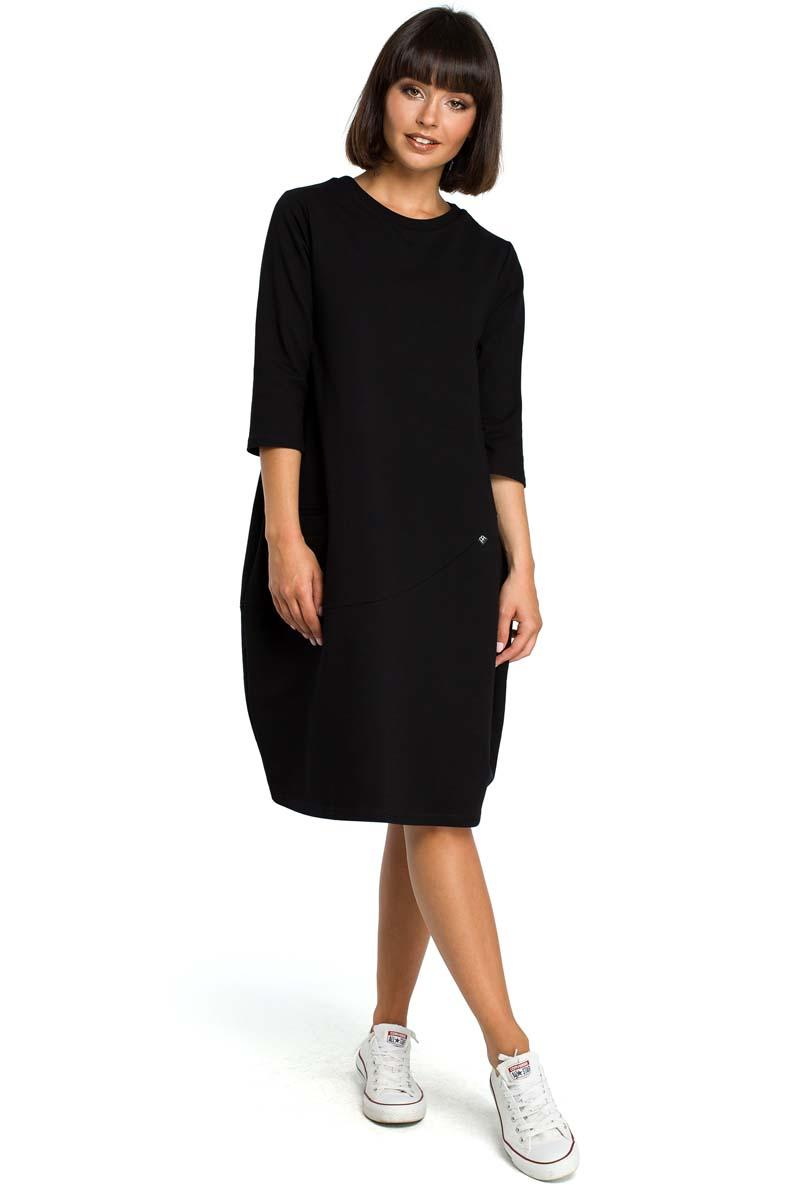 Black Casual Style Dress with Pockets