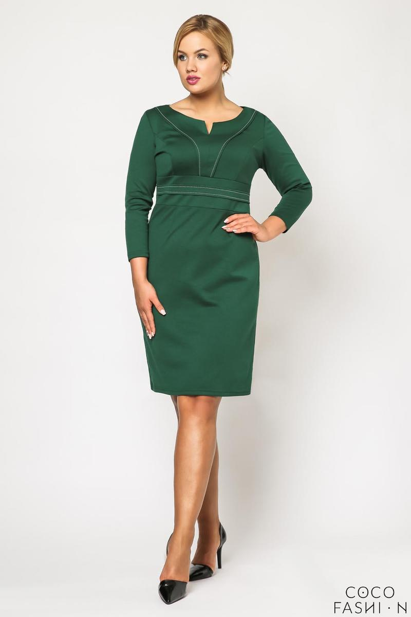 Green Classic Elegant Midi Dress PLUS SIZE