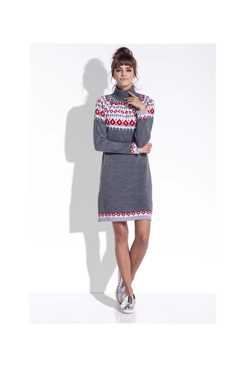 dark-grey-knitted-scandinawian-patterns-dress