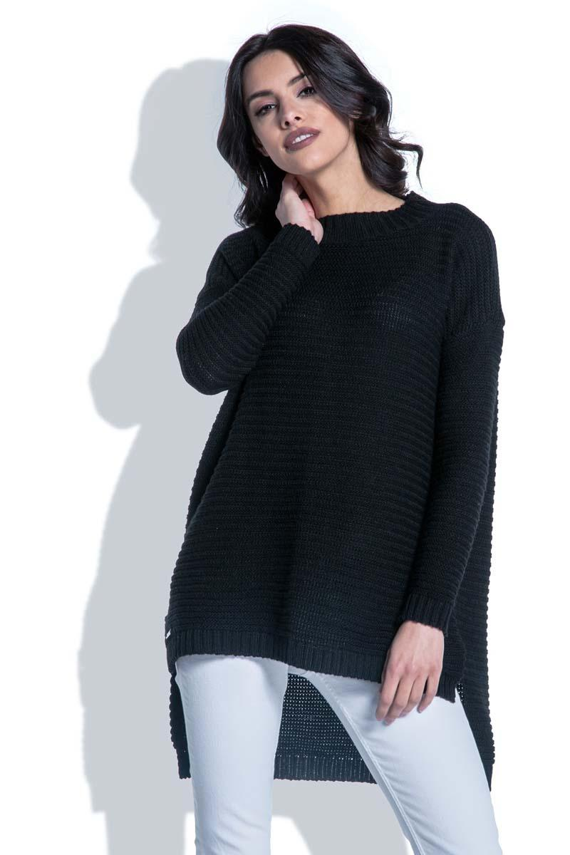Black Sweater with Longer Back