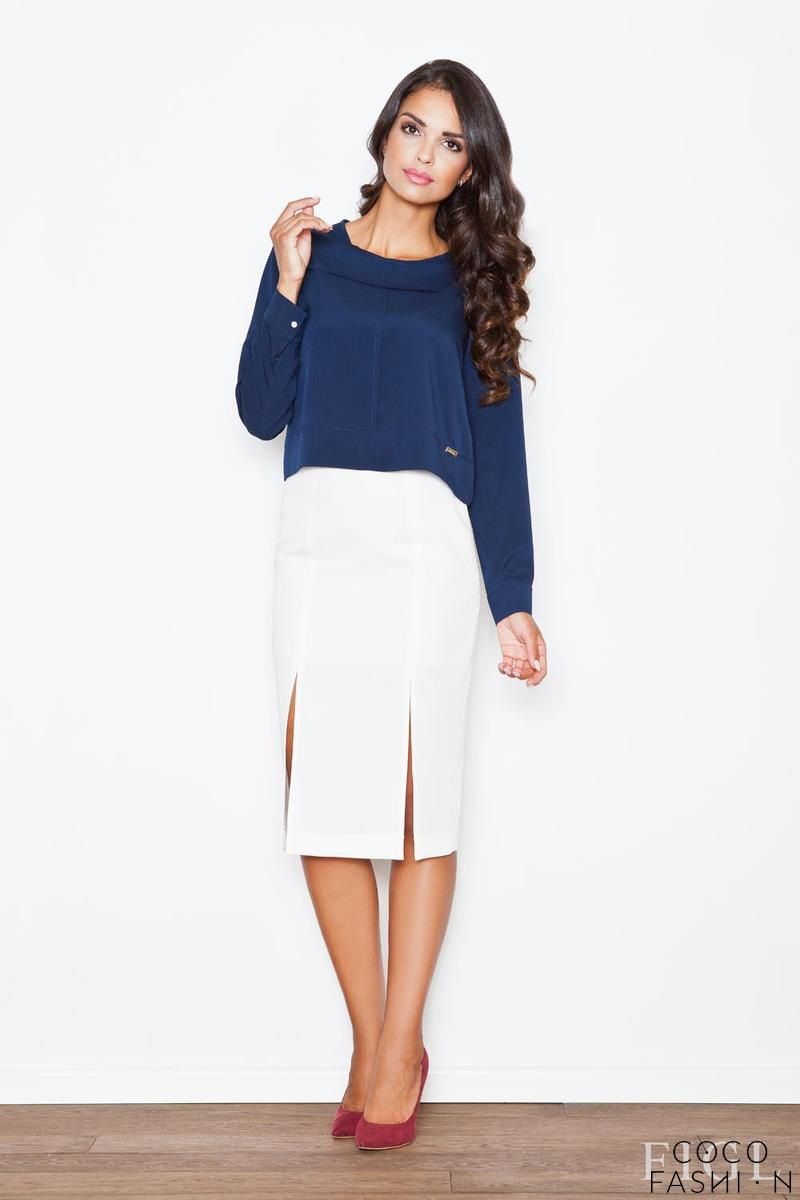 Ecru Bussiness Style Pencil Skirt