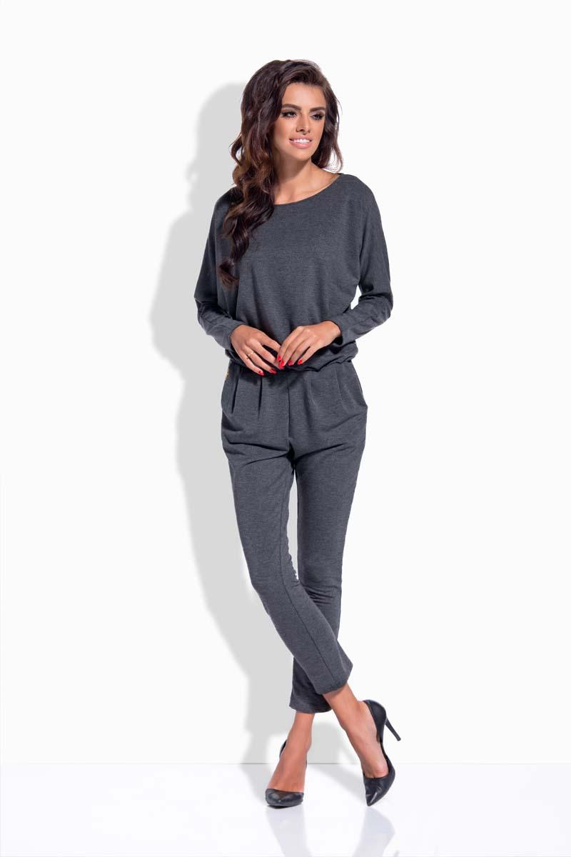dark-grey-bat-sleeves-jumpsuit