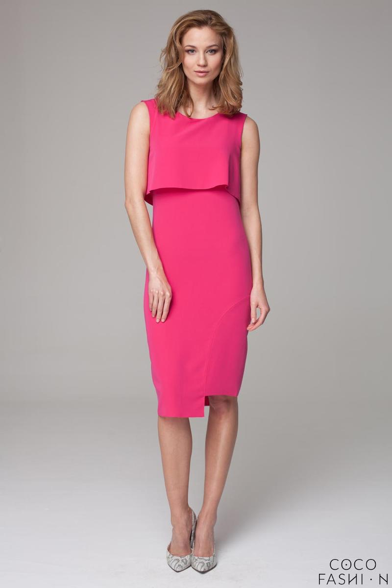 Pink Elegant Sleeveless Coctail Dress