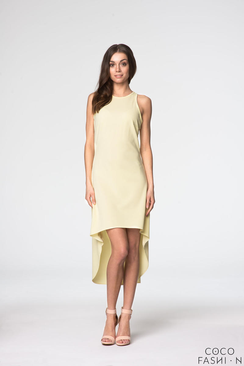 Yellow Sleeveless Assymetrical Spring/Summer Dress от cocofashion