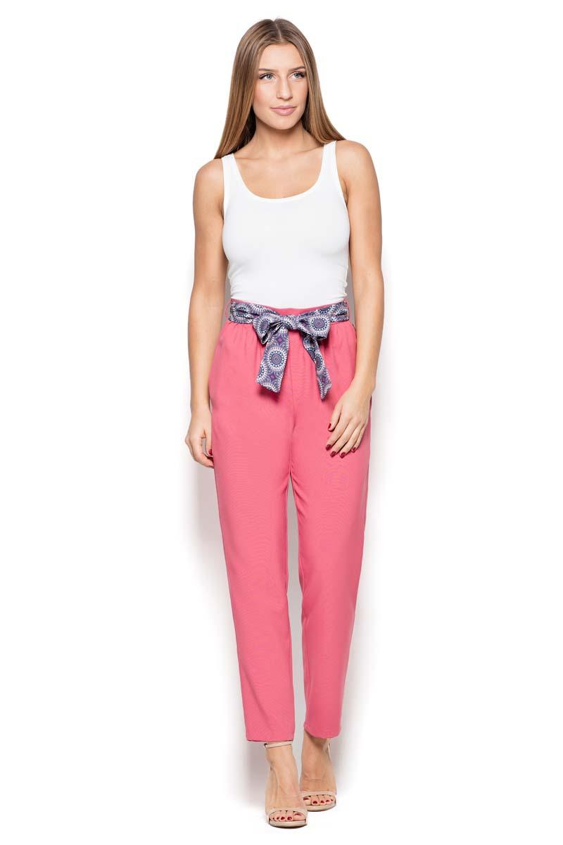 Pink Cigarette Pants with a Bow