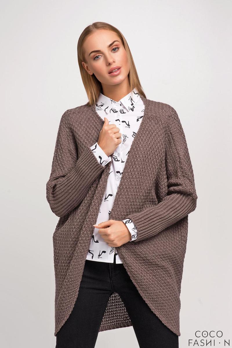 Cappuccino Raglan Sleeves Loose Cardigan