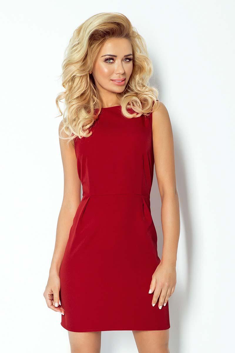 maroon-classic-sleeveless-mini-dress