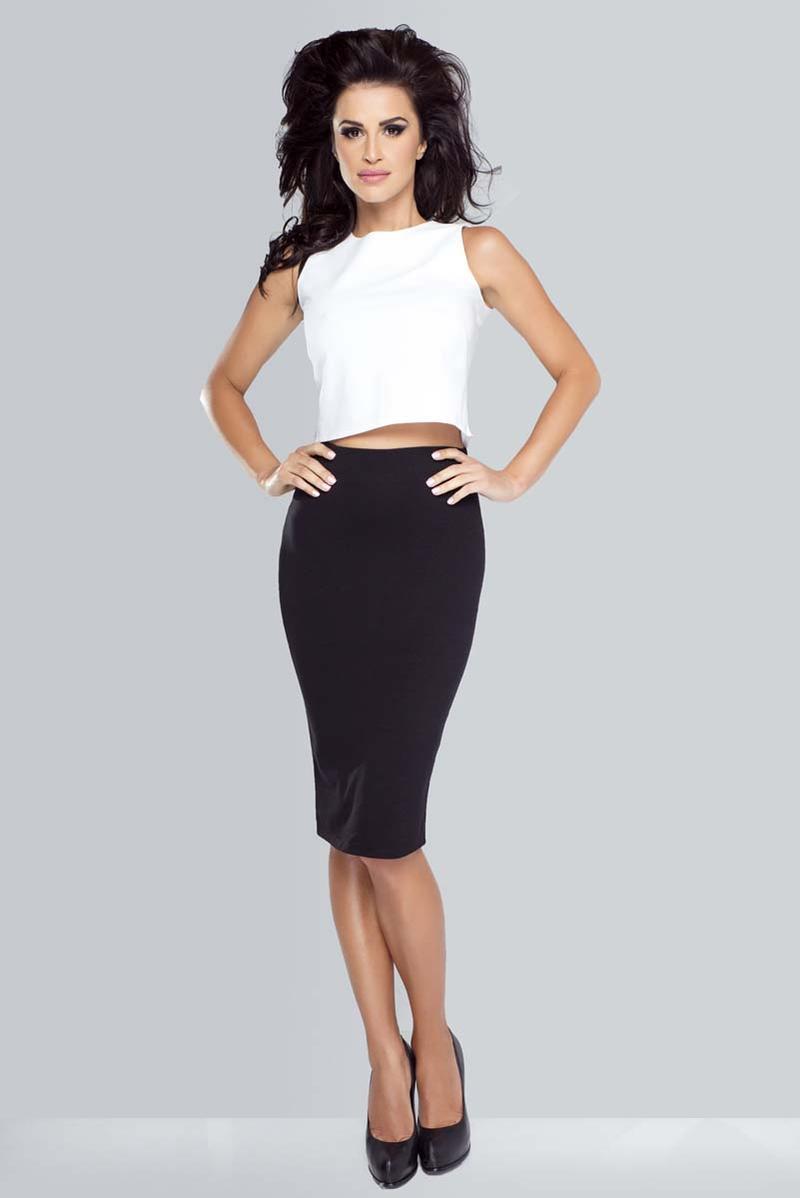 black-bodycon-midi-pencil-skirt