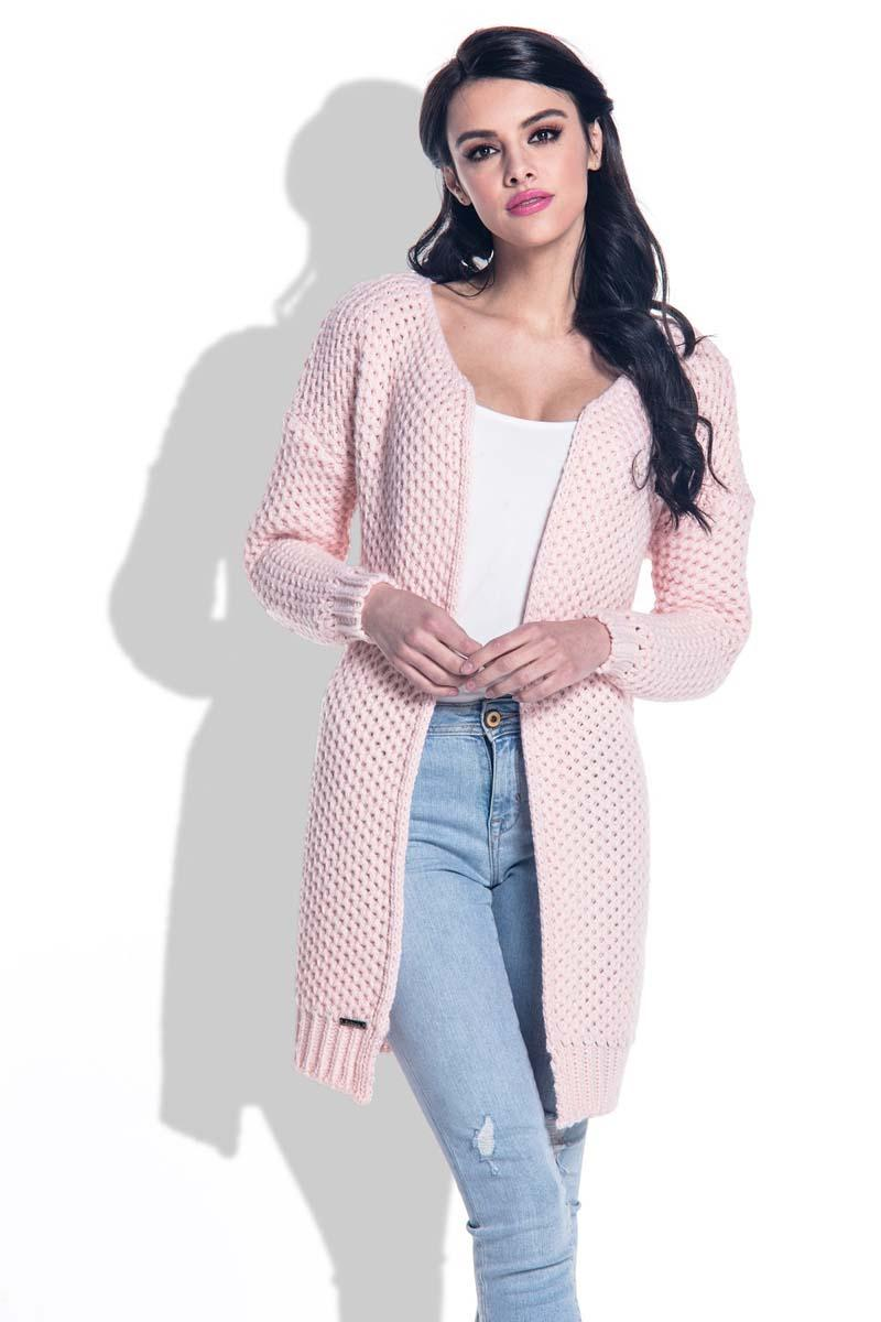 pink-reglan-sleeves-open-cardigan
