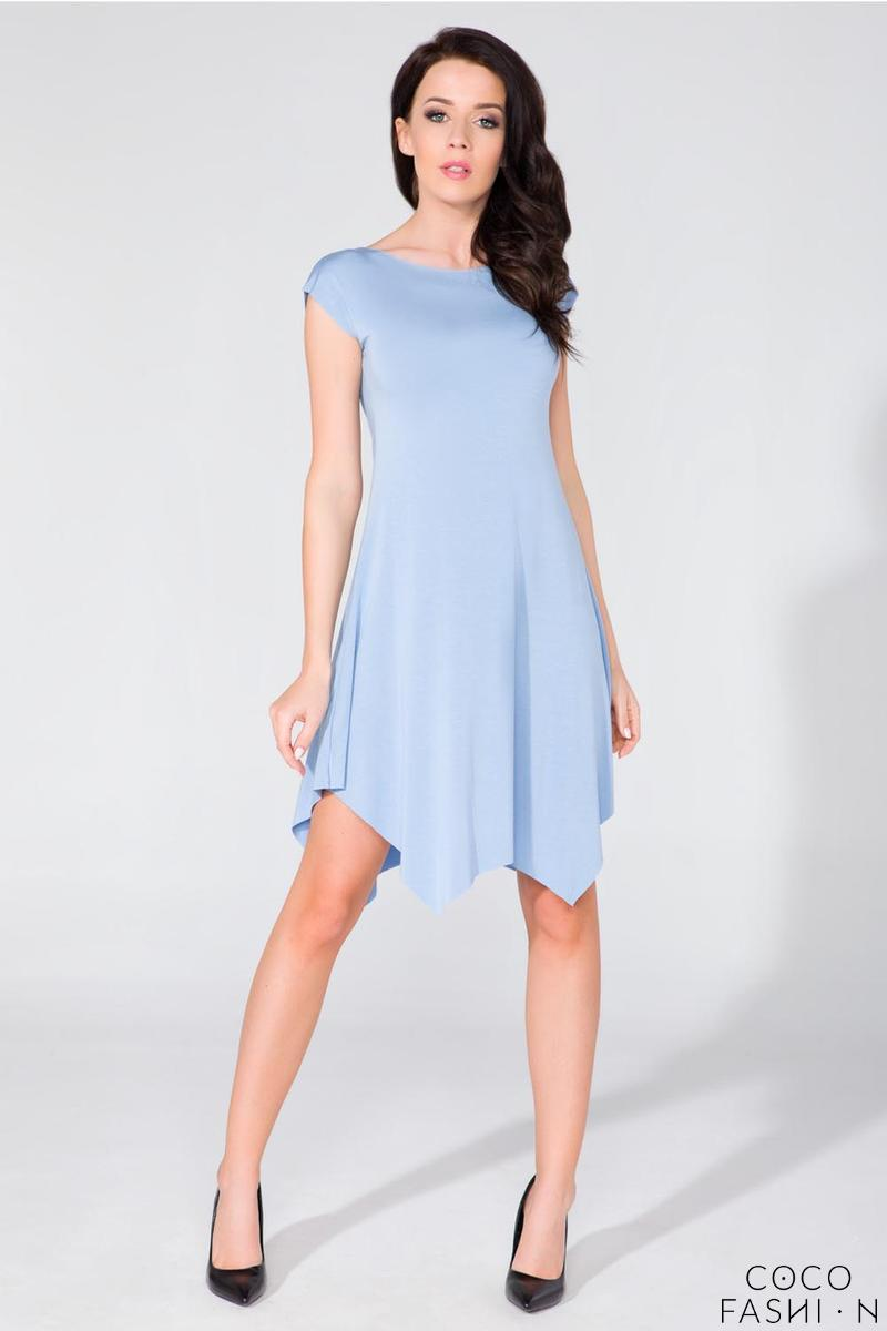 Light Blue Summer Asymetrical Dress