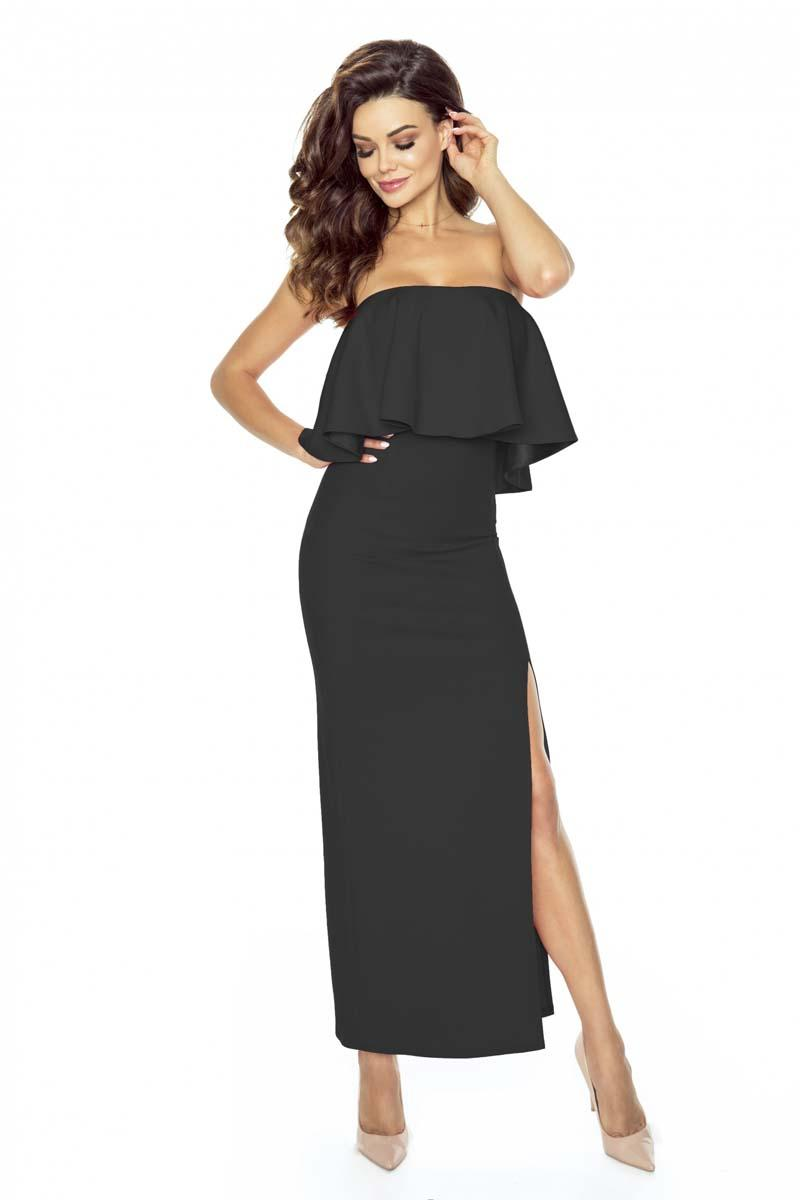 Black Elegant Off-shoulders Evening Maxi Dress