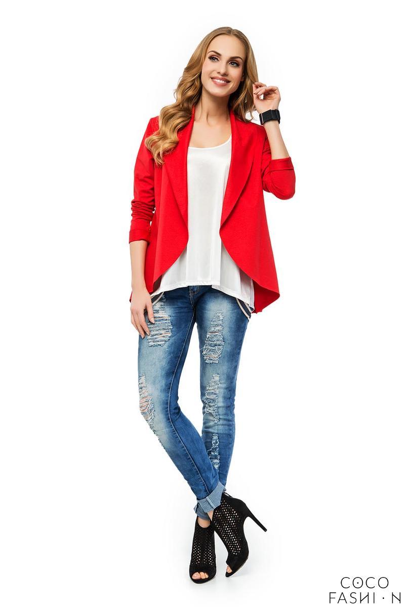 red-stylish-loose-lapels-cardigan-blazer