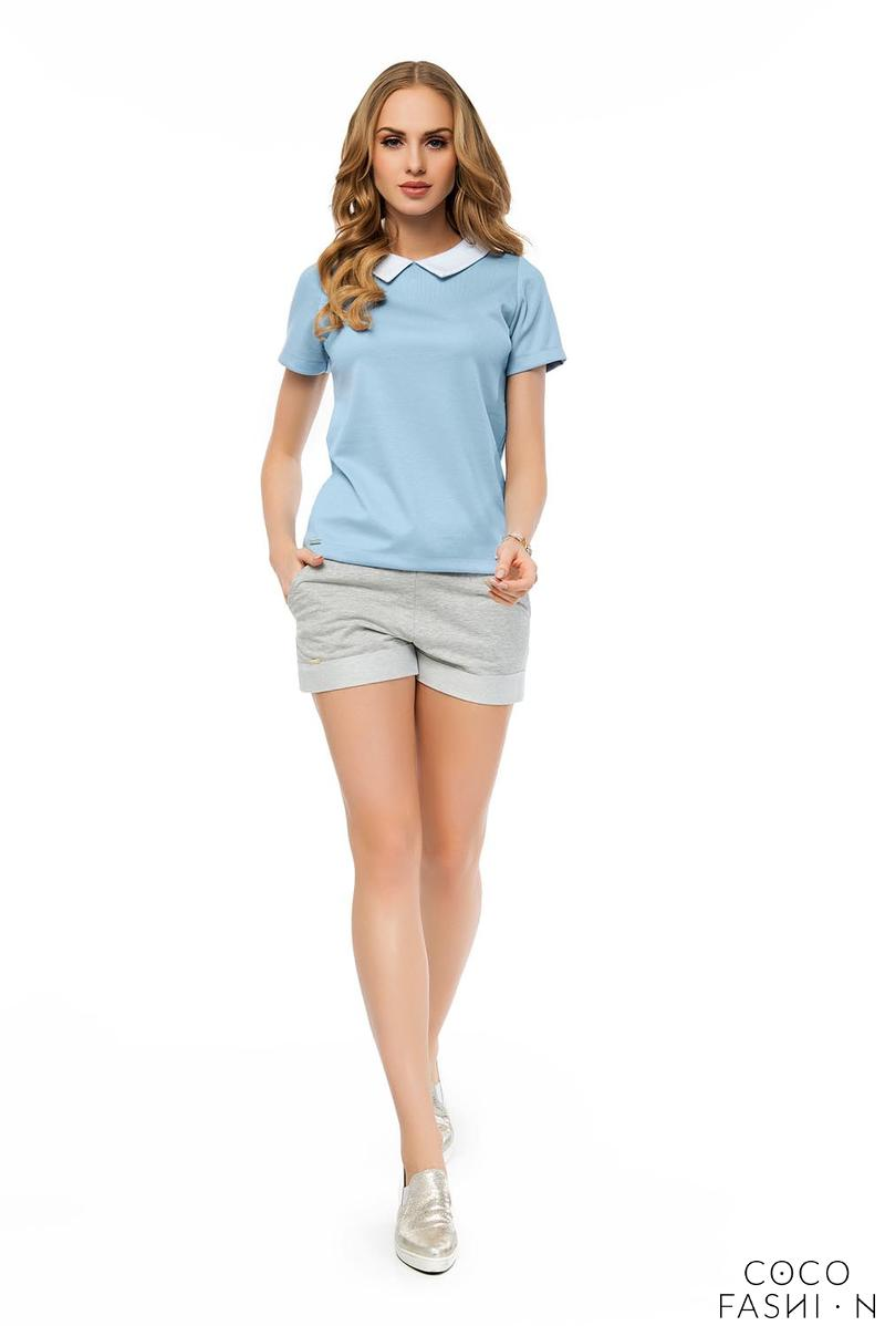 Light Grey Elastic High Waist Summer Collection Ladies Shorts