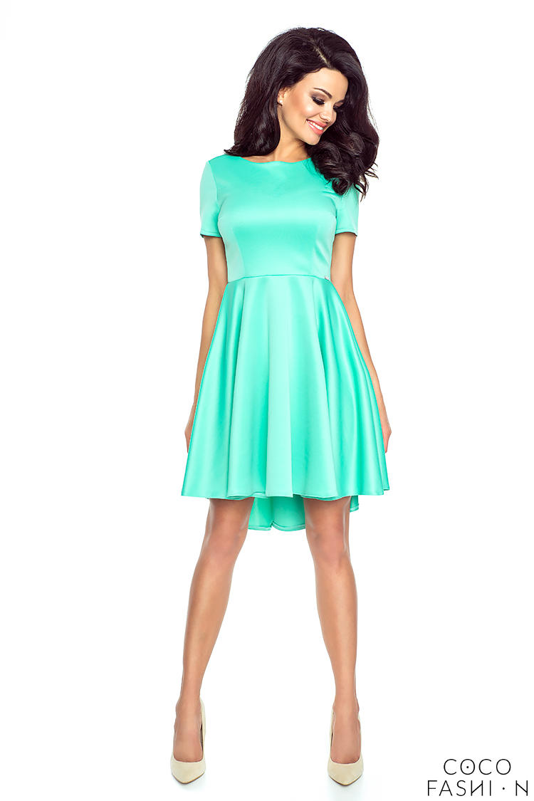 mint-light-pleats-asymetrical-dress