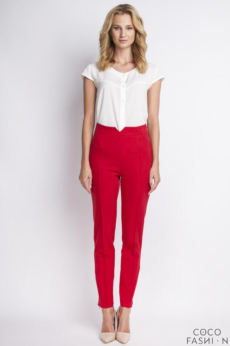 red-hight-waist-elegant-pants