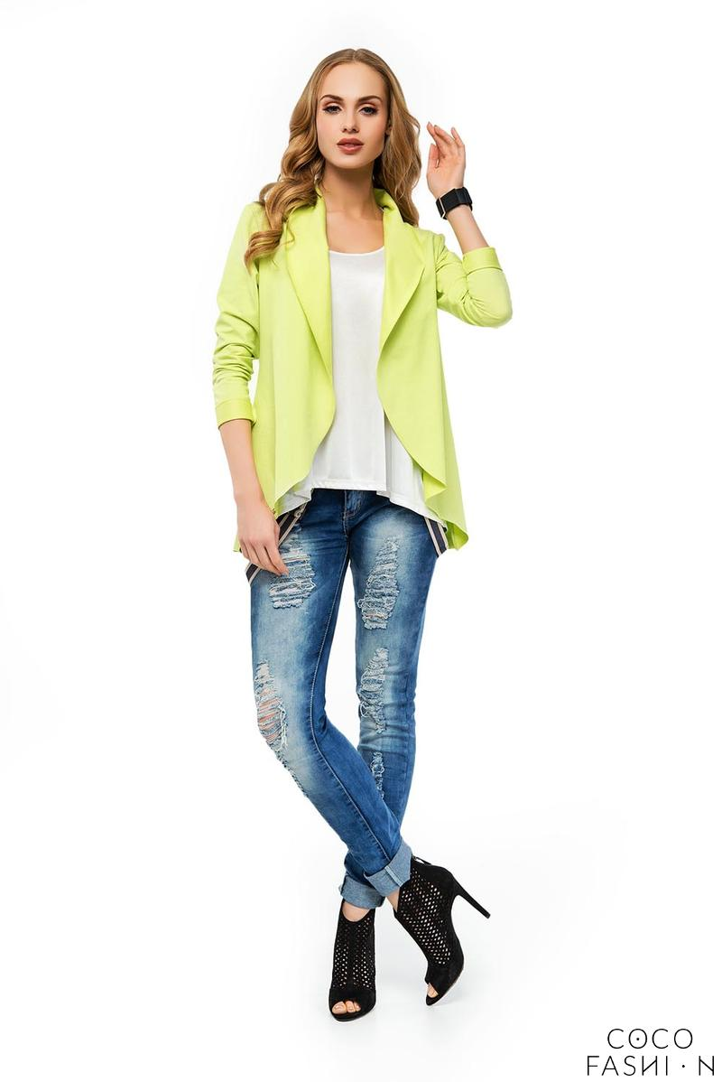 Yellow Stylish Loose Lapels Cardigan Blazer