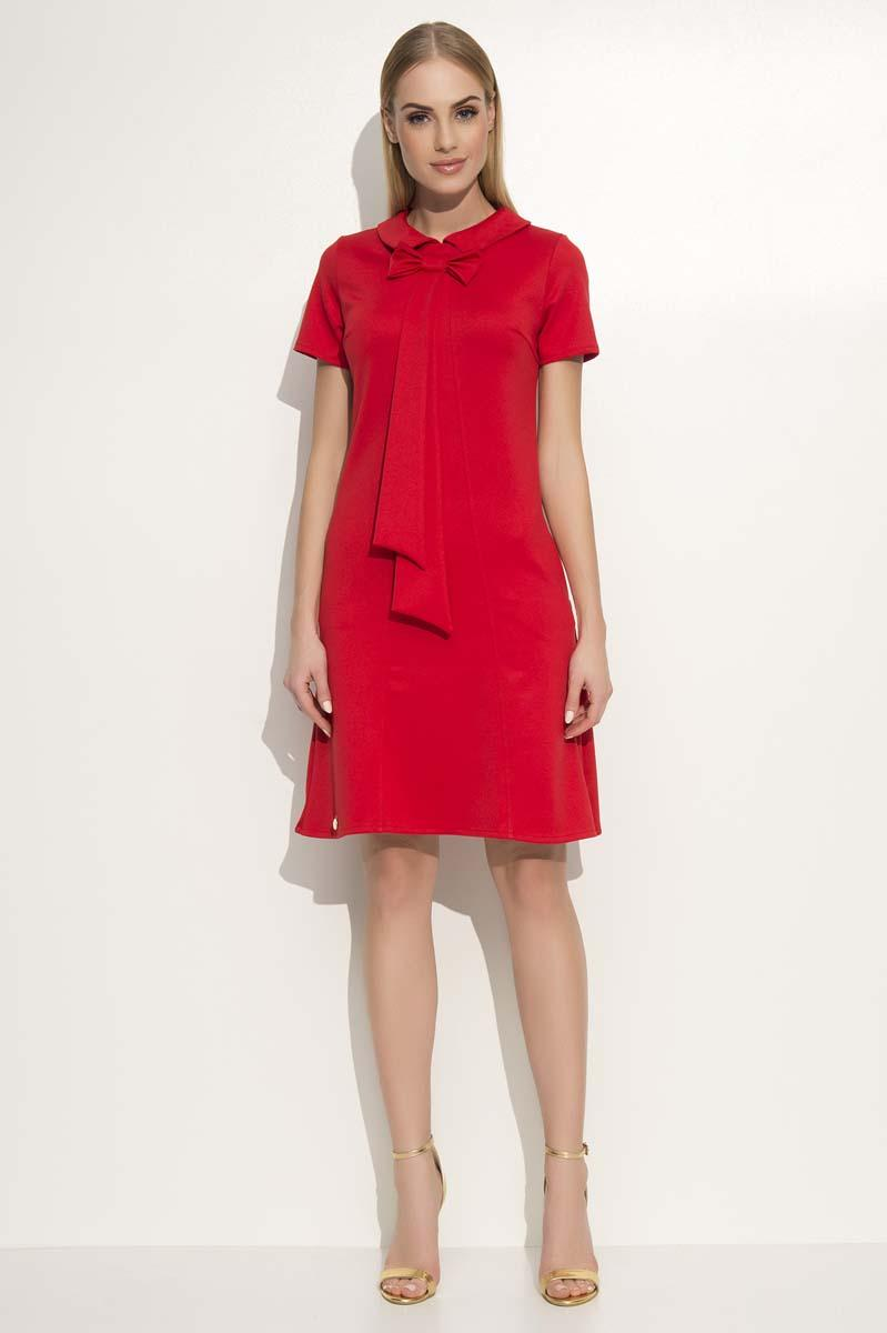 red-dress-with-collar-bow