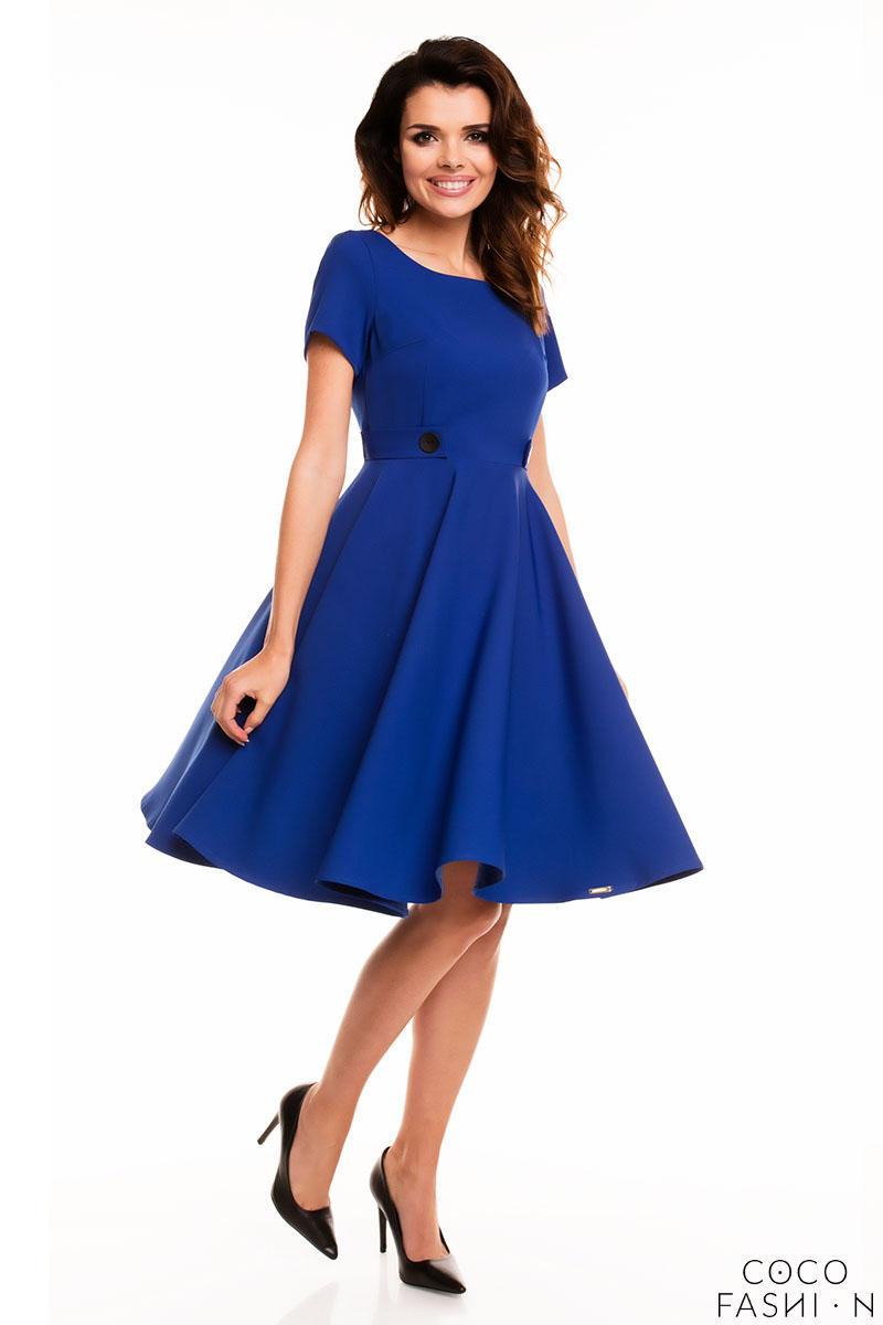 blue-short-sleeves-light-pleats-dress