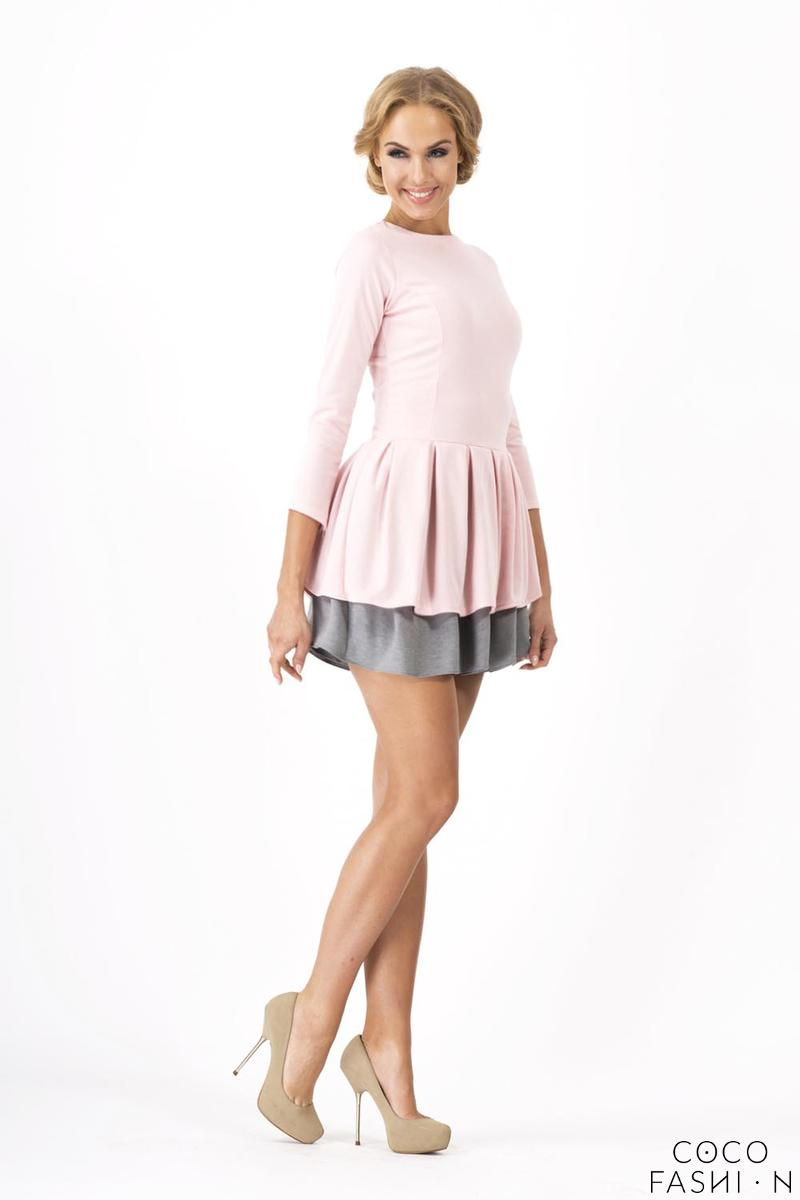 Pink Cute Frilled Mini Dress