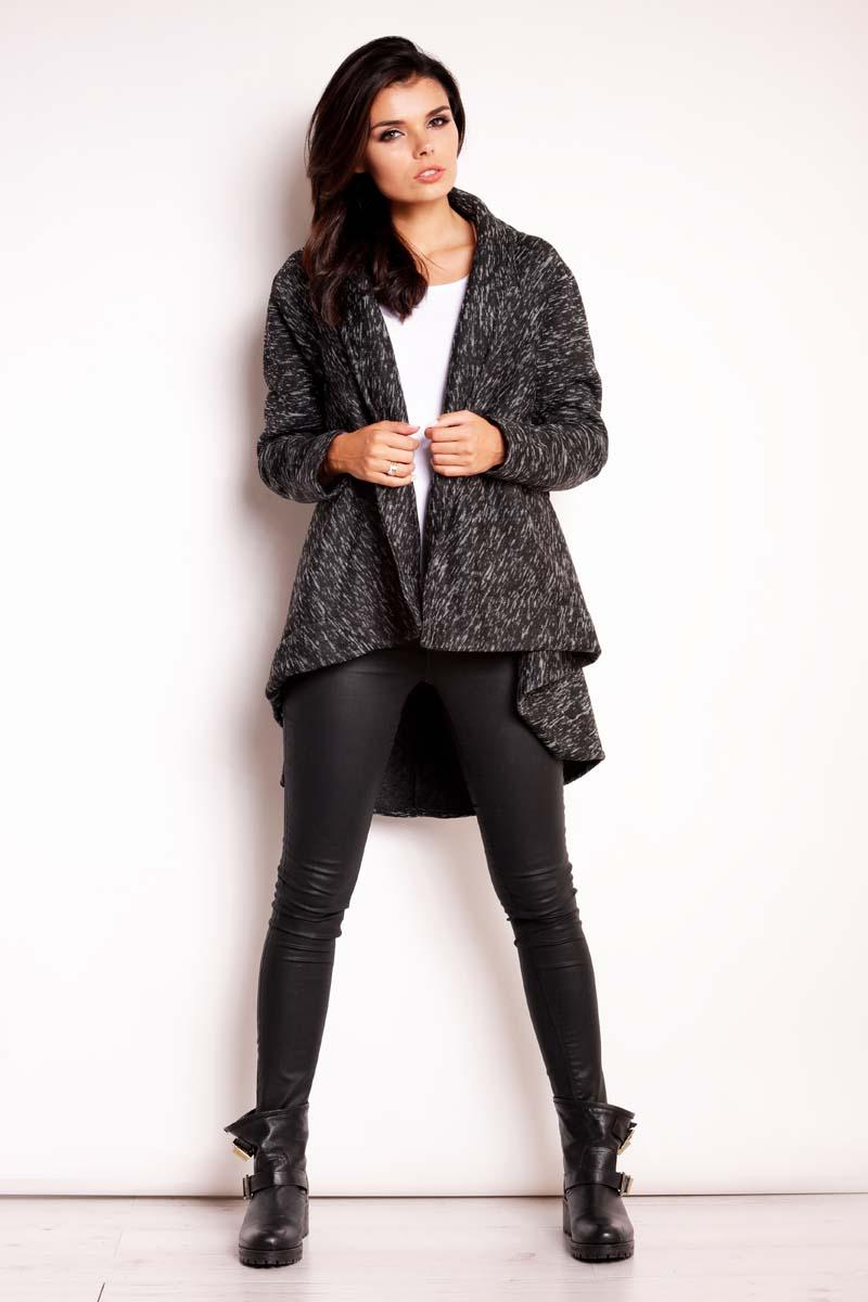 Black Asymmetrical Fall Coat