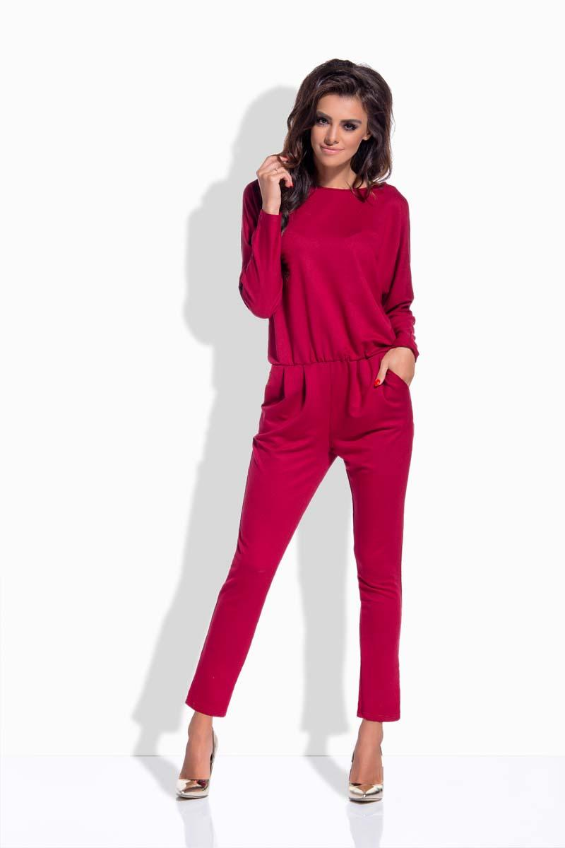 maroon-bat-sleeves-jumpsuit