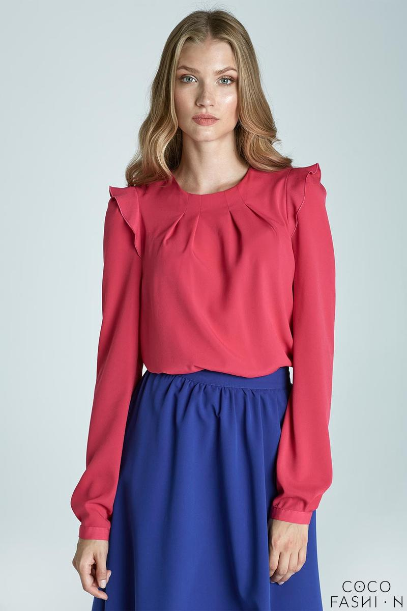 fuchsia-soft-office-blouse-with-frill-at-the-shoulders