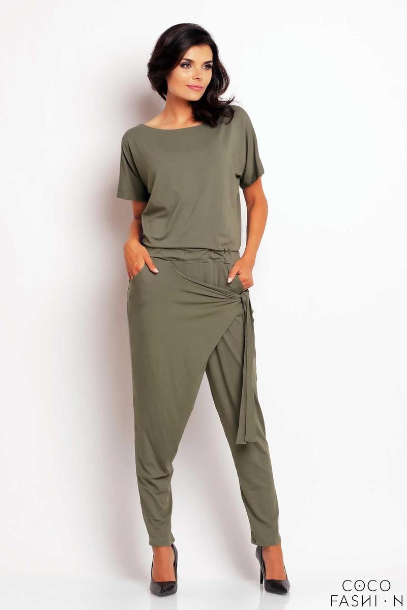 olive-green-stylish-self-tie-belt-baggy-pants-jumpsuit