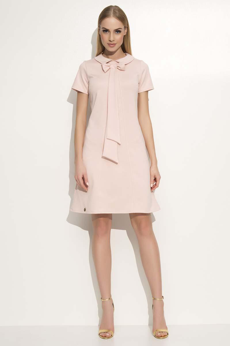 Pink Dress with Collar&Bow