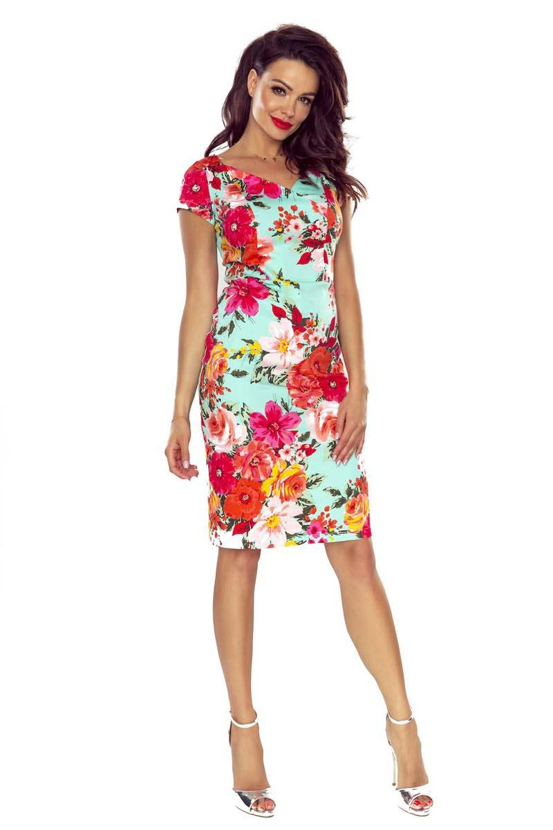 Elegant Pencil Dress With Floral Pattern