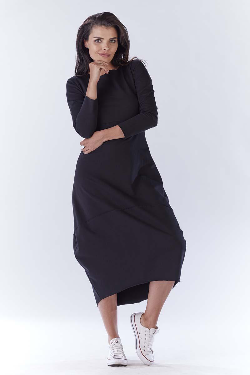 Black Long Sporty Bauble Dress