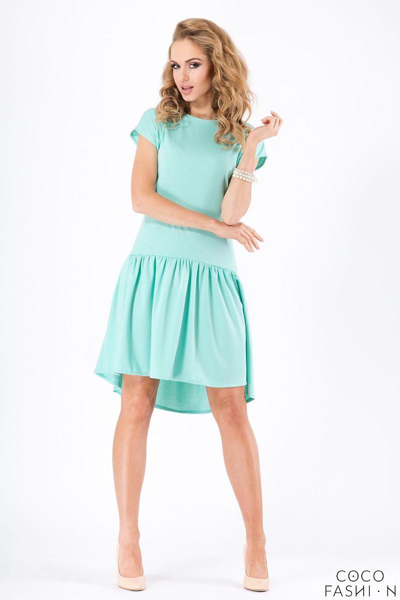 Mint Green Romantic Low Waistline Summer Dress от cocofashion