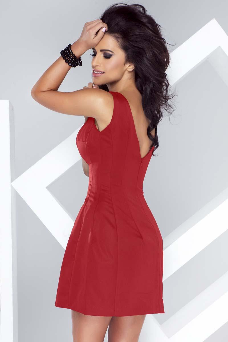 red-flared-open-back-mini-dress