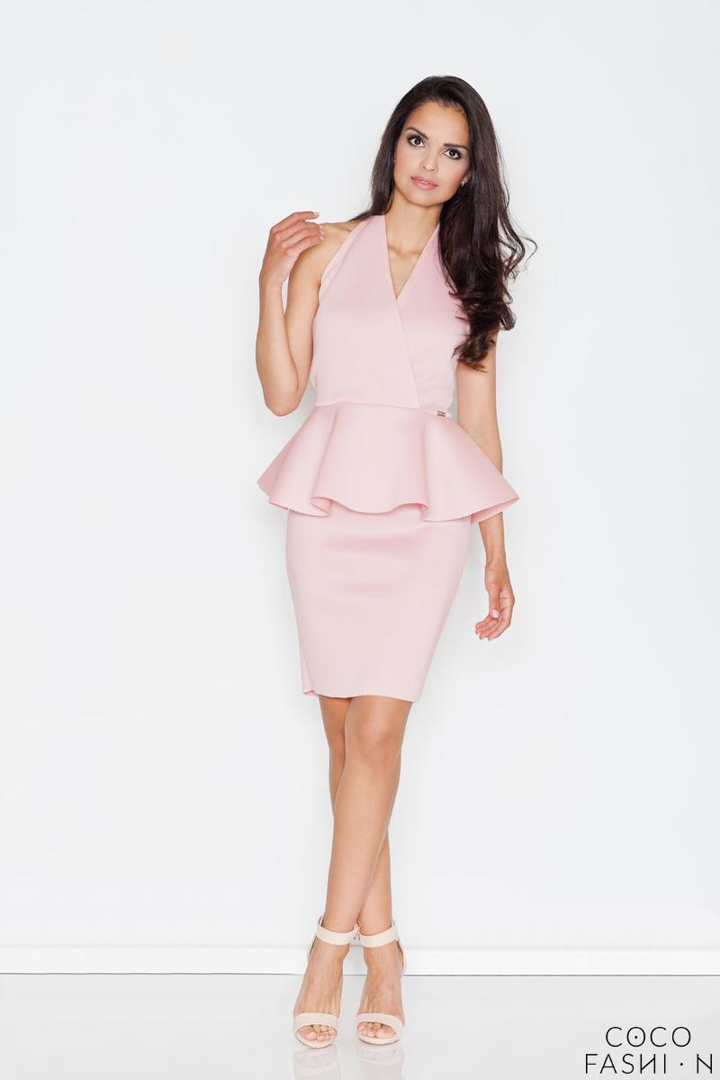 pink-stylish-coctail-peplum-dress