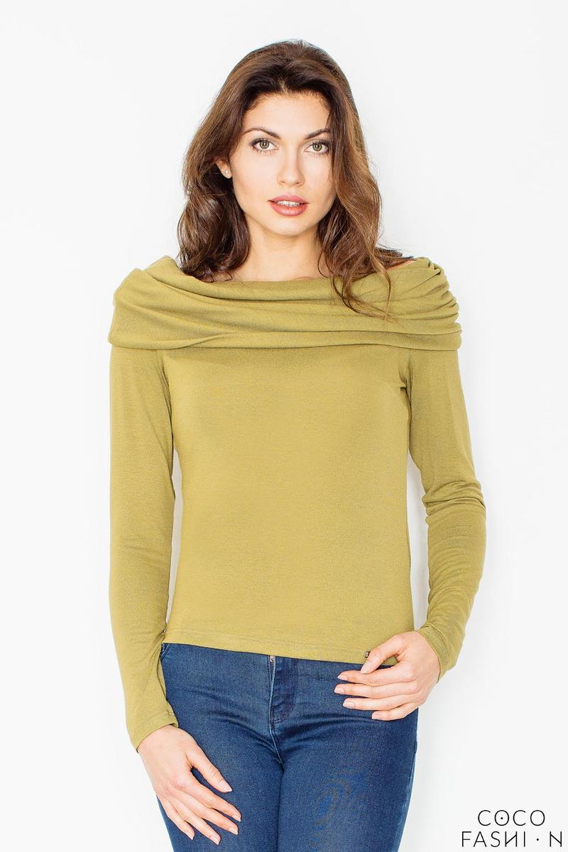 green-knitwear-wide-tourtle-neck-blouse