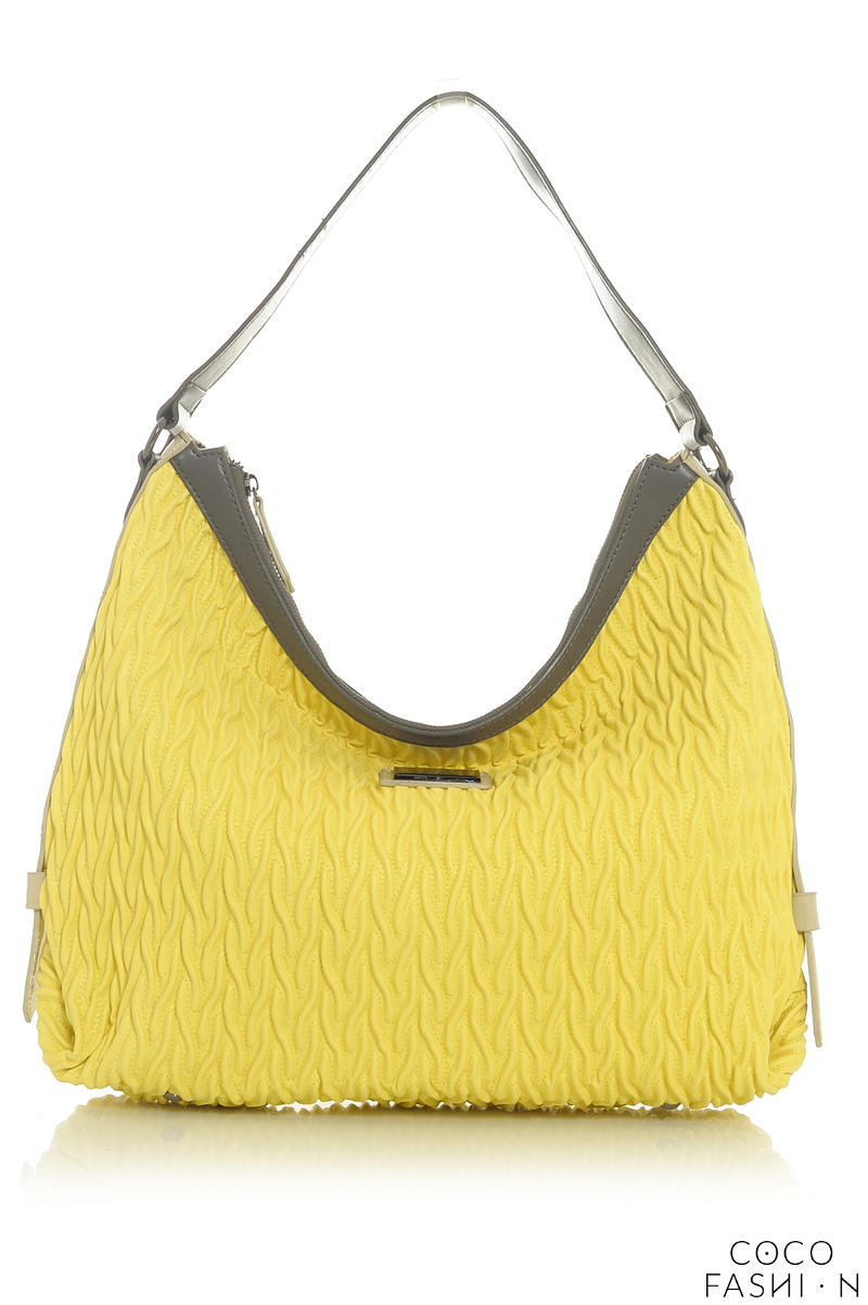 Yellow Patterned Comfy City Style Hand/Shoulder Bag