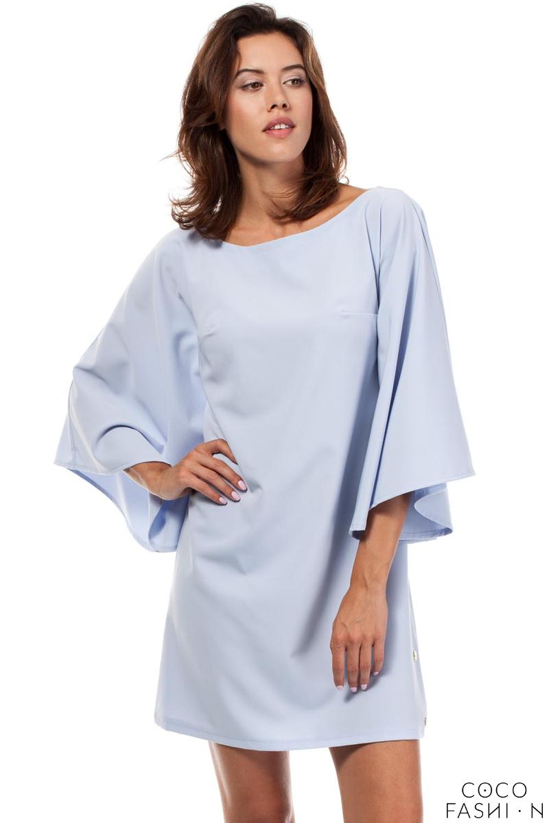 sky-blue-kimono-sleeves-mini-casual-dress